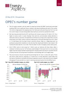 2018-05-29 Oil - Perspectives - OPEC's number game cover