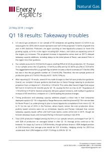 2018-05-23 Natural Gas - North America - Q1 18 results: Takeaway troubles cover