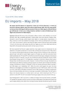 2018-06-12 Natural Gas - Europe - EU imports – May 2018 cover