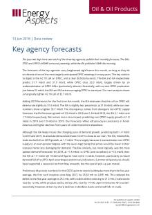 2018-06 Oil - Data review - Key agency forecasts cover
