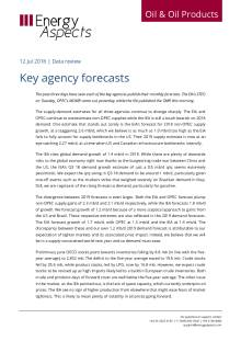 2018-07 Oil - Data review - Key agency forecasts cover