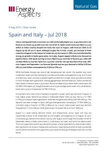 2018-08-09 Natural Gas - Europe - Spain and Italy – Jul 2018 cover