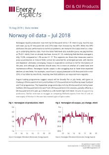 2018-08 Oil - Data review - Norway oil data – Jul 2018 cover