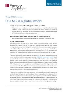 2018-08-16 Natural Gas - North America - US LNG in a global world cover