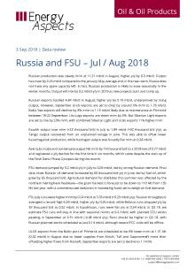Russia and FSU – Jul / Aug 2018 cover image
