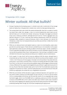 2018-09-19 Natural Gas - Europe - Winter outlook: All that bullish? cover