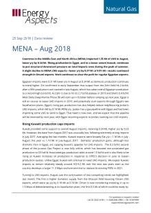 2018-09-25 Natural Gas - Global LNG - MENA – Aug 2018 cover