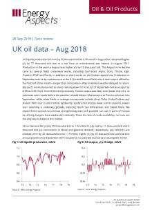 UK oil data – Aug 2018 cover image