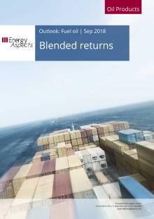 2018-09 Oil - Fuel oil Outlook - Blended returns cover