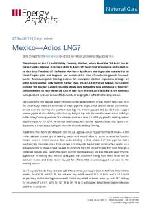2018-09-27 Natural Gas - North America - Mexico—Adios LNG? cover