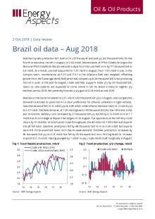 Brazil oil data – Aug 2018 cover image