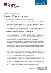 2018-10-09 Natural Gas - North America - Lower 48 gas storage cover