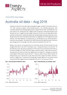 2018-10 Oil - Data review - Australia oil data – Aug 2018 cover