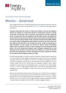 2018-10-25 Natural Gas - North America - Mexico – ¡Sorpresa! cover