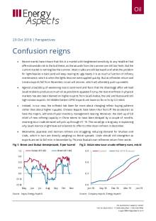 2018-10-29 Oil - Perspectives - Confusion reigns cover