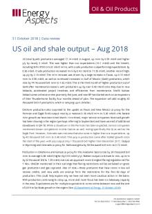 US oil and shale output – Aug 2018 cover image