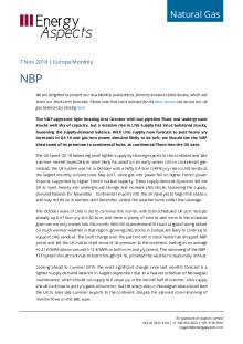 2018-11-07 Natural Gas - Europe - NBP cover