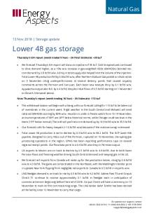 2018-11-13 Natural Gas - North America - Lower 48 gas storage cover