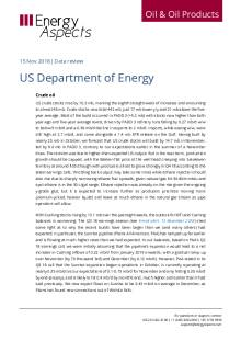 2018-11 Oil - Data review - US Department of Energy cover