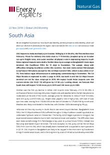 2018-11-23 Natural Gas - Global LNG - South Asia cover