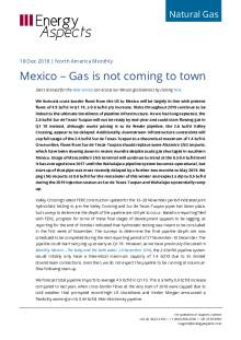 Mexico – Gas is not coming to town cover image