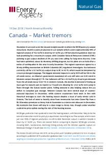 2018-12-19 Natural Gas - North America - Canada – Market tremors cover