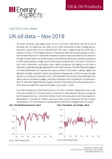 UK oil data – Nov 2018 cover image