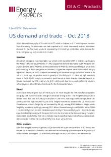2019-01 Oil - Data review - US demand and trade – Oct 2018 cover
