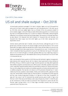 US oil and shale output – Oct 2018 cover image