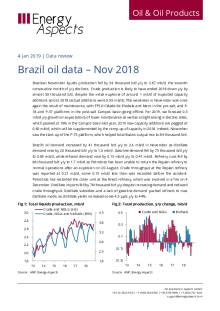 Brazil oil data – Nov 2018 cover image