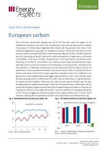 2019-01-14 Emissions - Carbon weekly - European carbon cover
