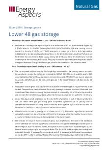2019-01-15 Natural Gas - North America - Lower 48 gas storage cover