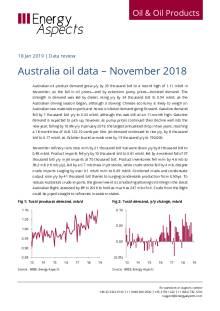 2019-01 Oil - Data review - Australia oil data – November 2018 cover