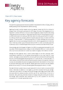 2019-01 Oil - Data review - Key agency forecasts cover