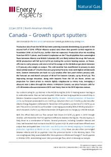 2019-01-22 Natural Gas - North America - Canada – Growth spurt sputters cover