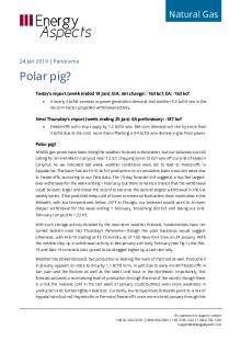2019-01-24 Natural Gas - North America - Polar pig? cover
