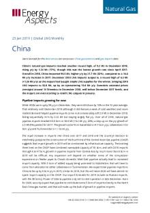 2019-01-25 Natural Gas - Global LNG - China cover