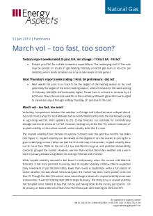 March vol – too fast, too soon? cover image