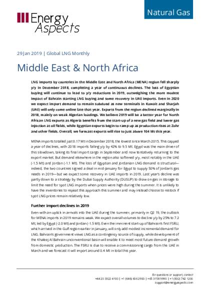 Middle East & North Africa - Energy Aspects