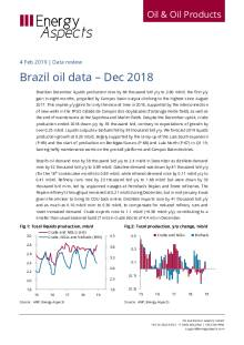 Brazil oil data – Dec 2018 cover image