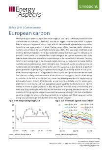 2019-02-18 Emissions - Carbon weekly - European carbon cover