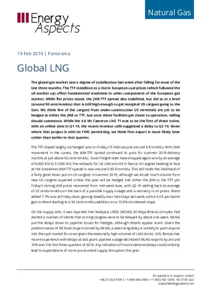 Global LNG - Energy Aspects
