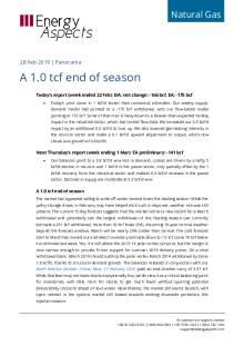 A 1.0 tcf end of season cover image