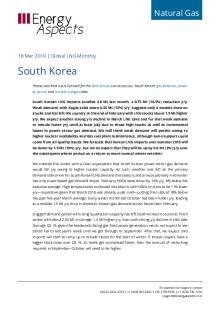 2019-03-18 Natural Gas - Global LNG - South Korea cover