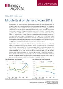 2019-03 Oil - Data review - Middle East oil demand – Jan 2019 cover