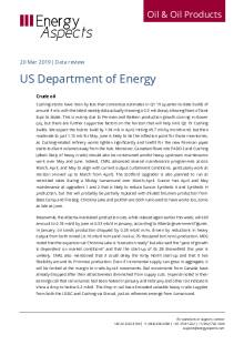 2019-03 Oil - Data review - US Department of Energy cover