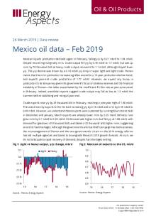 2019-03 Oil - Data review - Mexico oil data – Feb 2019 cover