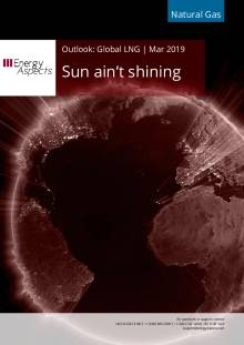 2019-03-29 Natural Gas - Global LNG - Sun ain't shining cover