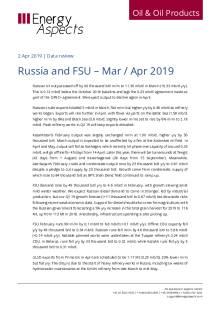 2019-04 Oil - Data review - Russia and FSU – Mar / Apr 2019 cover