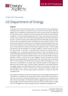 2019-04 Oil - Data review - US Department of Energy cover